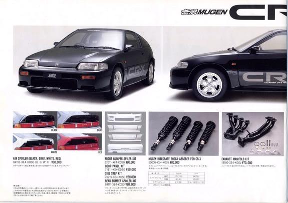 комплектующие от Mugen на Honda CRX