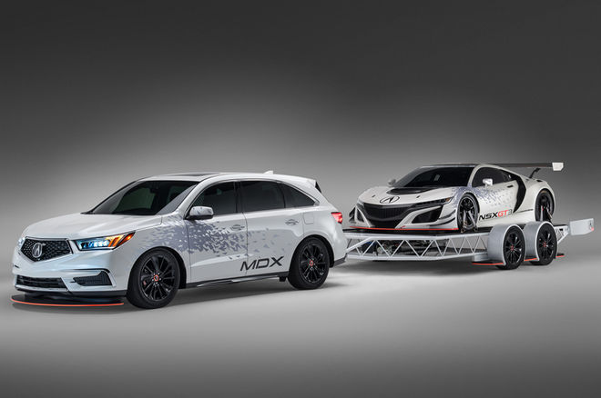Acura MDX and NSX GT3