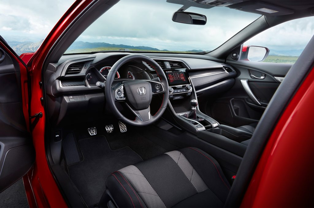 Interior honda civic si 2017